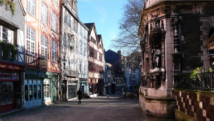 Quartier St Maclou (ROUEN) novembre 2009