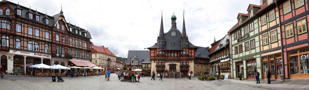 Hotel de ville de Wernigerode (Harz - Allemagne) - Vue panoramique