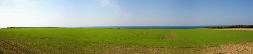 Sur la route entre Cayeux sur Mer et Ault (Seine Maritime - Normandie) - Vue panoramique
