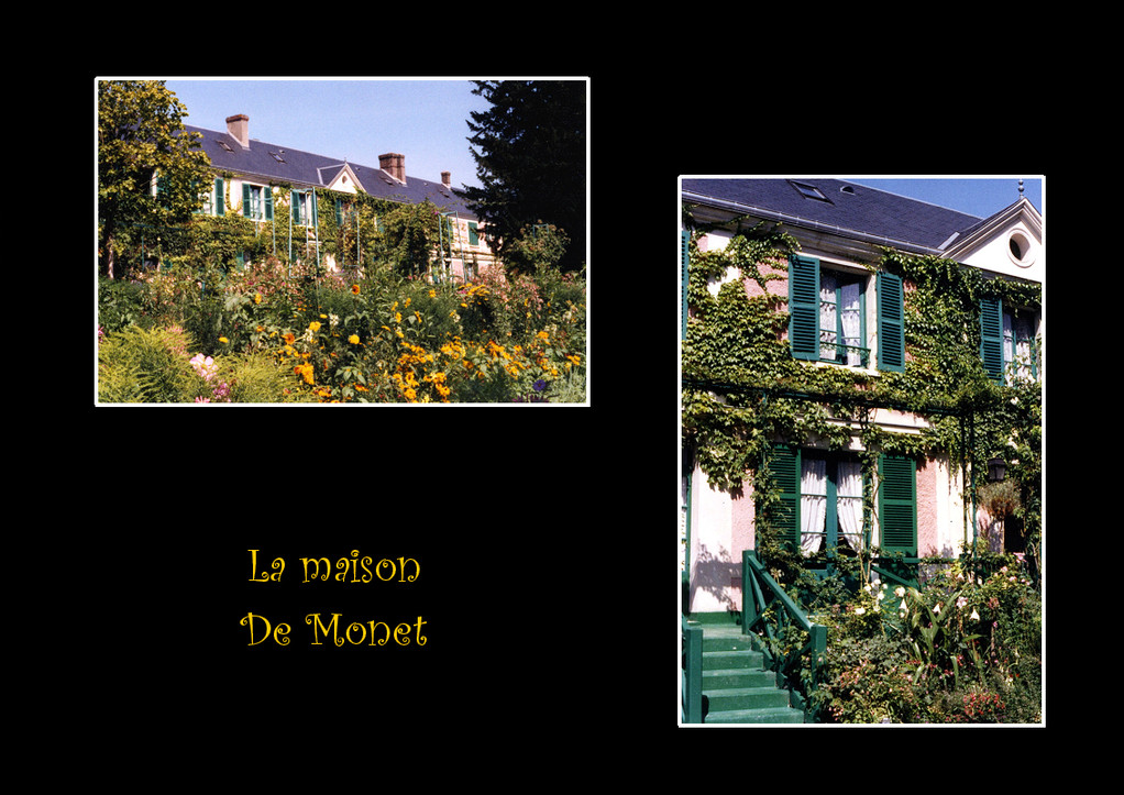 La maison de Monet - Promenade à Giverny (Village de Claude Monet) Eure-France - Septembre 2010