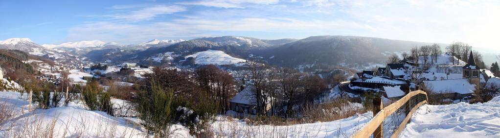 Vue du Puy de Sancy et de Murat le Quaire (Auvergne) - Vue panoramique