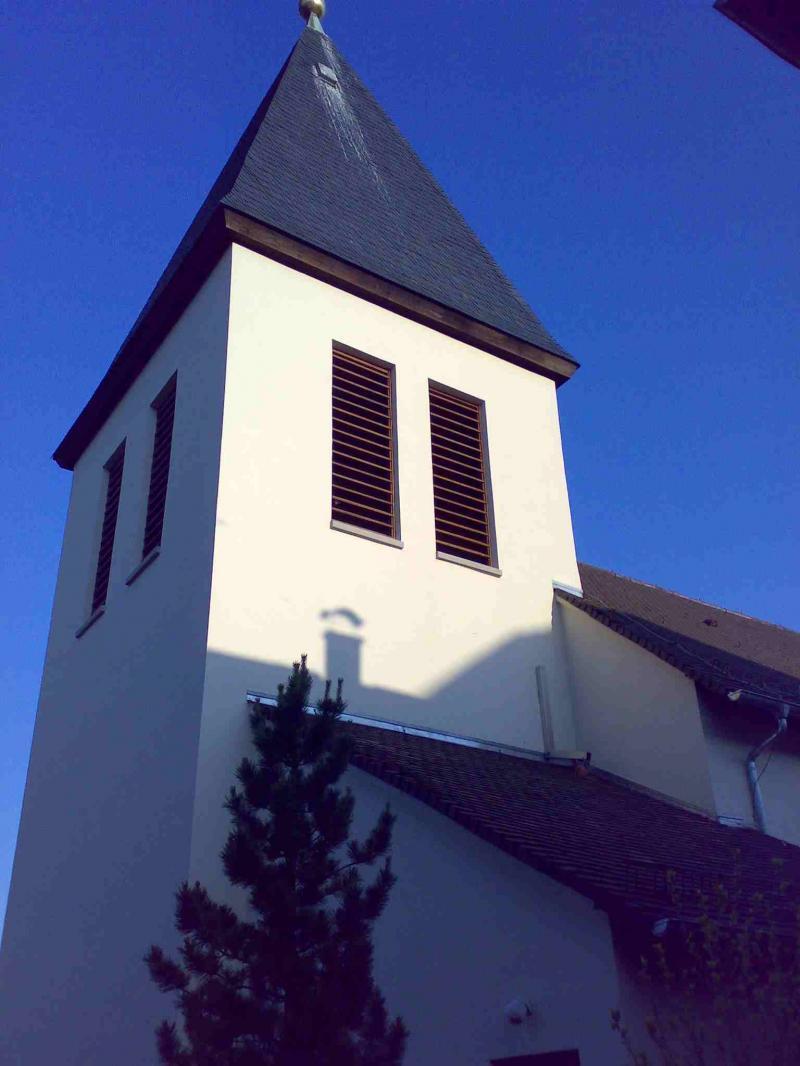 Vernetzung der Schallläden an einem Glockenturm.