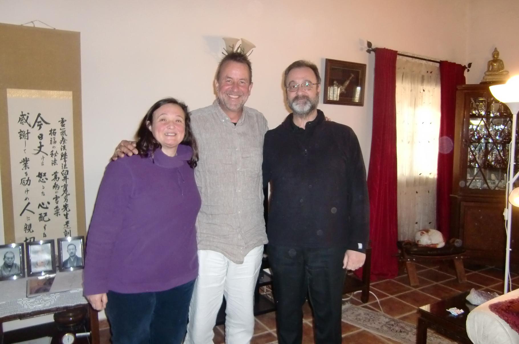Con Frank Arjava y Mireia Alegre en Malaga