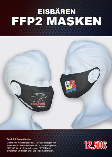 Unsere neuen Eisbären-FFP2- Masken sind ab sofort im Fanshop erhältlich!
