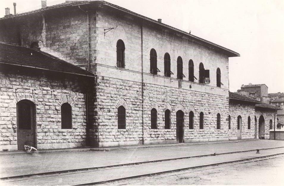 L'edificio principale della stazione, scomparso durante la seconda guerra mondiale