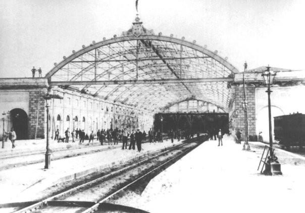 La stazione nel XIX secolo