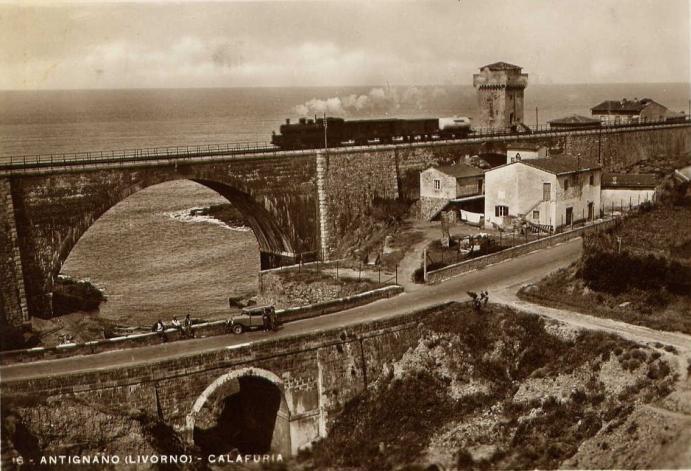 Viadotto di Calafuria, tra Livorno e Quercianella