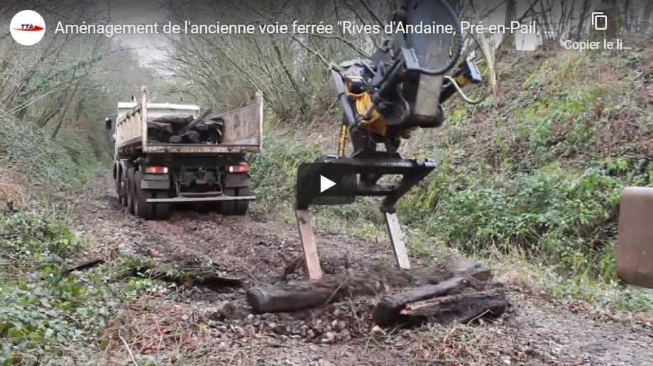 """Aménagement de l'ancienne voie ferrée """"Rives d'Andaine, Pré-en-Pail, Alençon"""" en voie verte"""