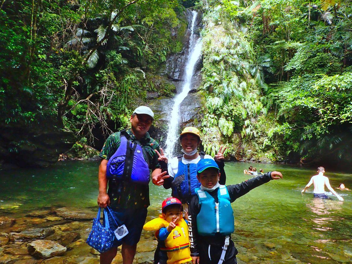 7月18日、家族で川を楽しむ!