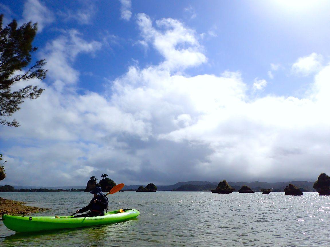 2月13日、海でのんびりプライベートタイム!