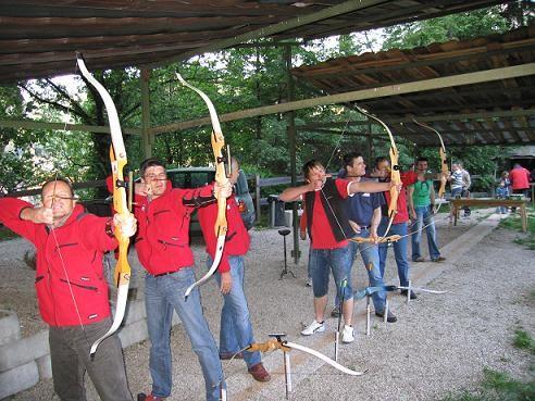 Drachenfliegerclub Pfalzen beim Bogenschissen