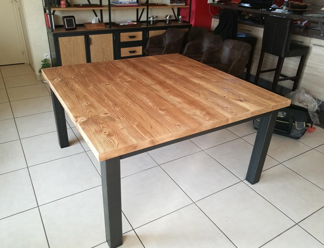 Tables Hautes Metalik Bois Meubles Industriel Dans La Region