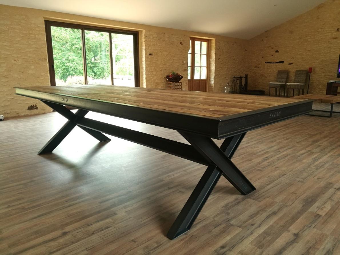 Tables Hautes Metalik Bois Meubles Industriel Dans La