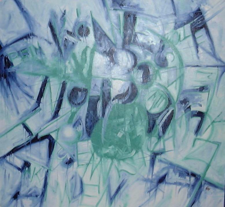 blau-grün 100x100