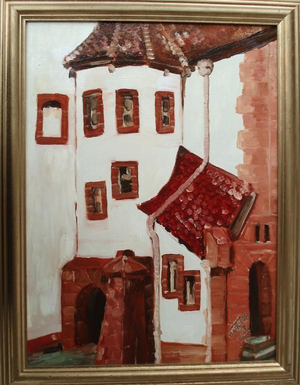 Steinau,Brüder-Grimm-Haus-Winkel 30 x 40 Öl auf Leinwand