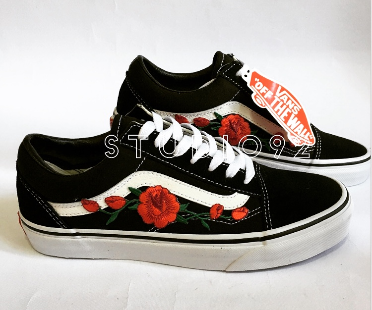 vans old skool rose rosse