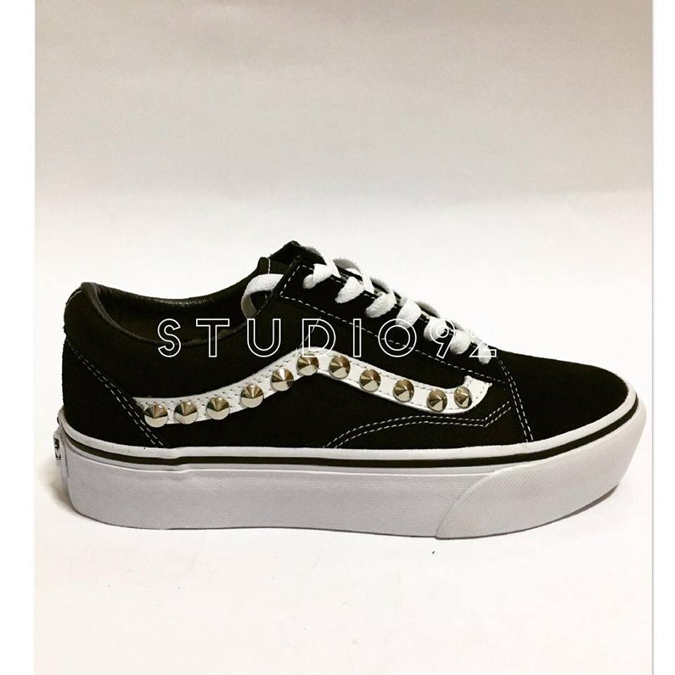 vans nere personalizzate