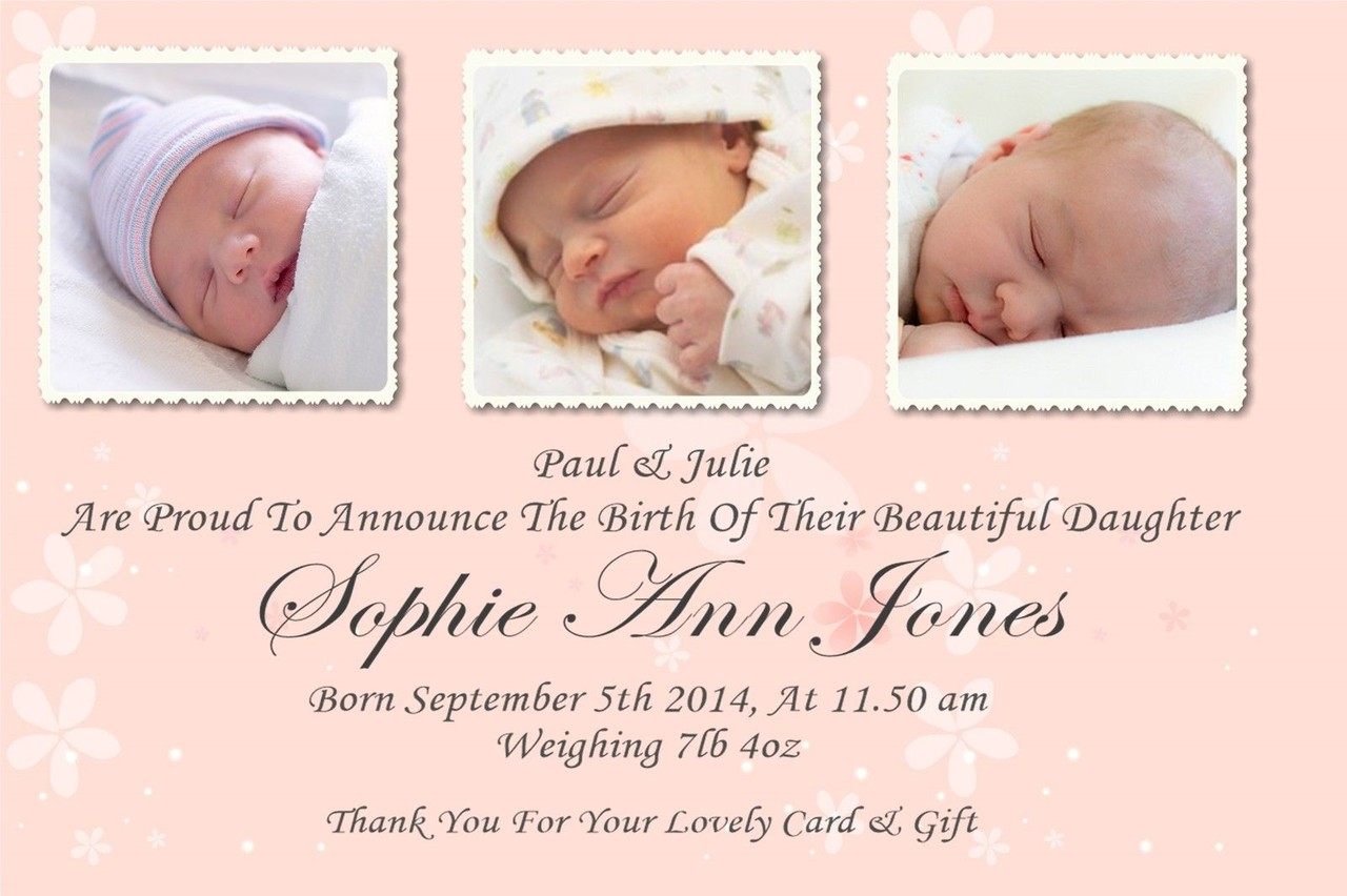 create a birth announcement best 25 birth announcement wording