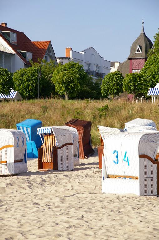 Haus Jahreszeiten vom Strand aus gesehen