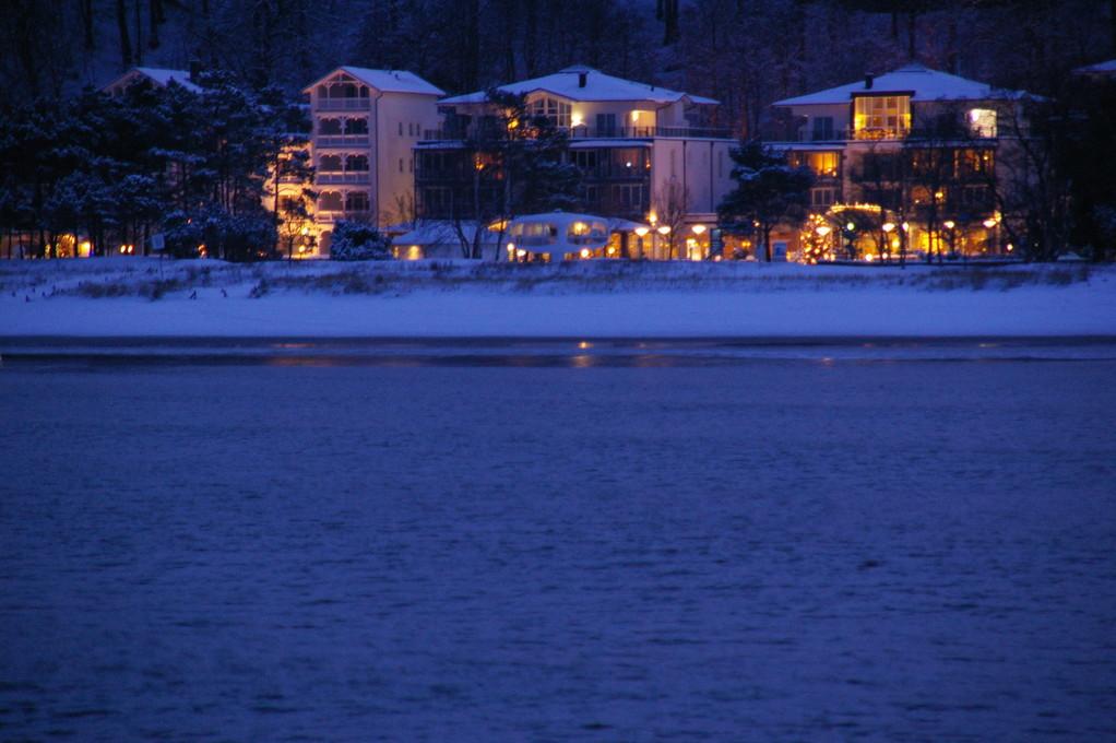 Winter in Binz von der Seebrücke aus gesehen