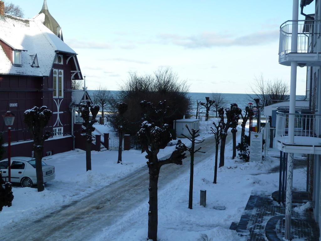 Blick von unserem Balkon im Winter