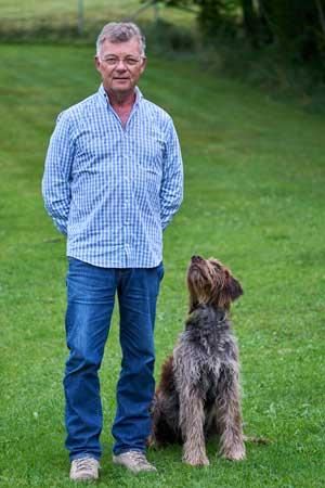 Hermann mit seinem Hund Basic