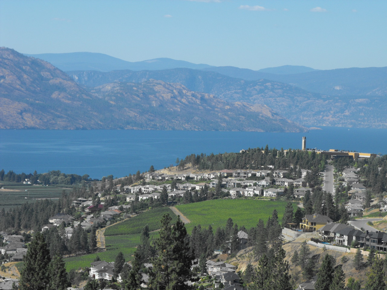 View over Mission Hill Winery West Kelowna