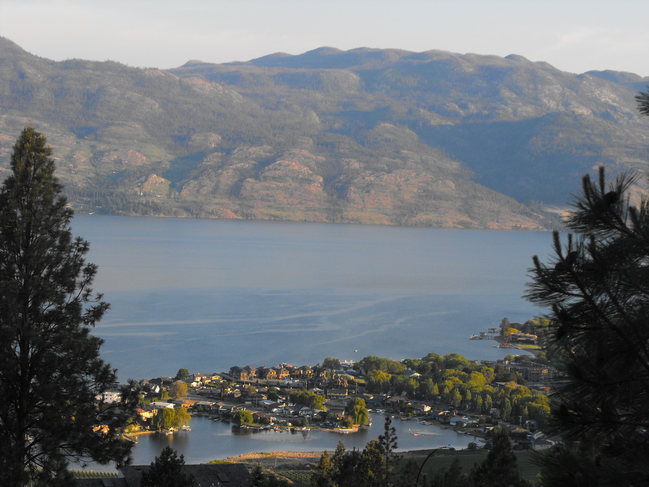 View over Green Bay and Okanagan Lake.