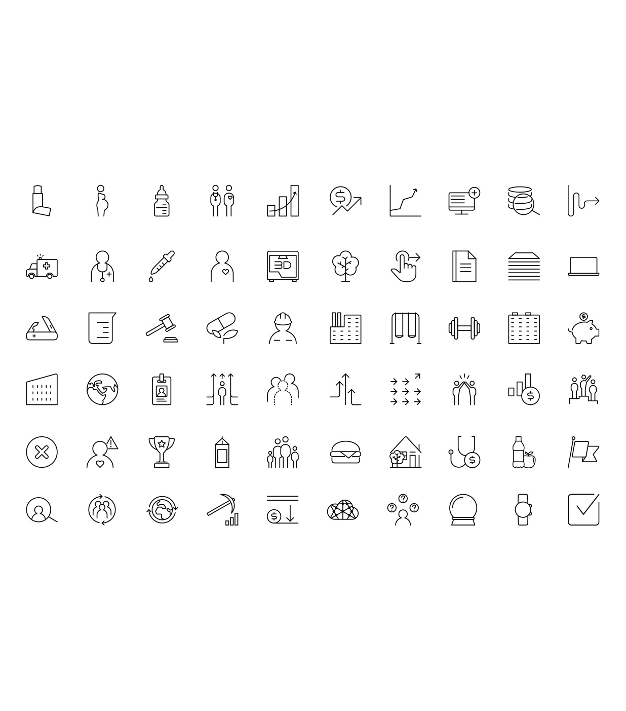 Original icons created to complement the IBM Watson corporate icons