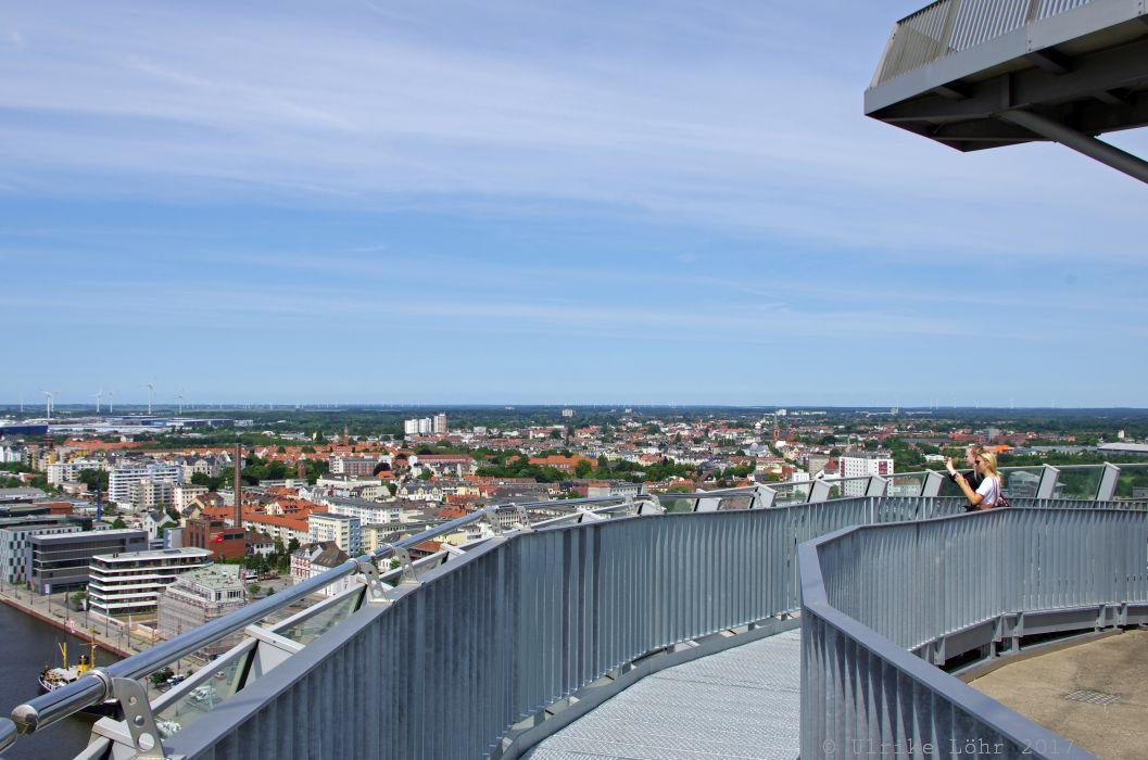 Hoch hinaus in Bremerhaven: Aussichtsplattform Atlantic Sail City
