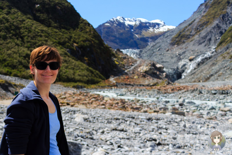 Tanja am Fox Glacier - Foto (C) Takly on tour