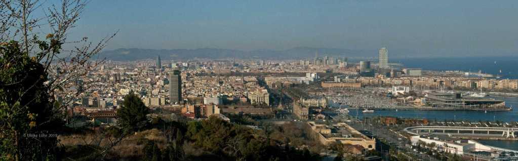 Blick auf Barcelona vom Montjuic