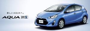 【日本一人気のある車はトヨタ アクア】