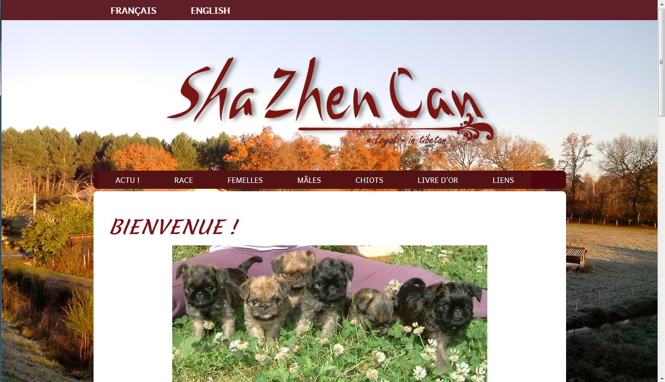 Site web de l'élevage Sha Zhen Can