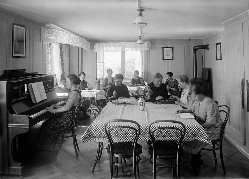 Bild von früherem Aufenthaltsraum für die Gäste
