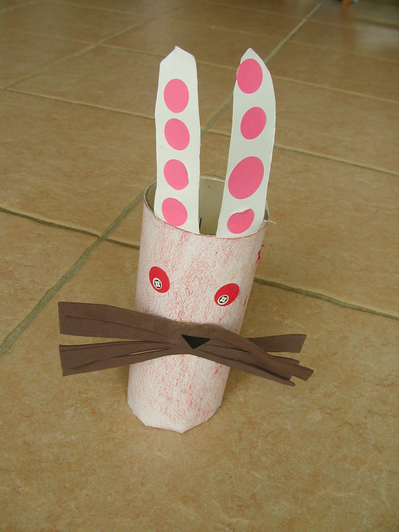 pot de Pâques en tête de lapin