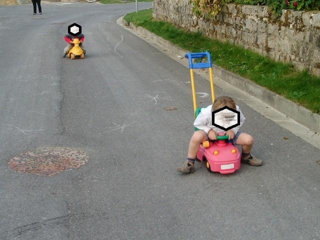 course de tracteurs dans l'impasse