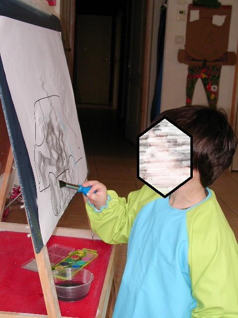 faire de la peinture debout (la peinture coule !!)