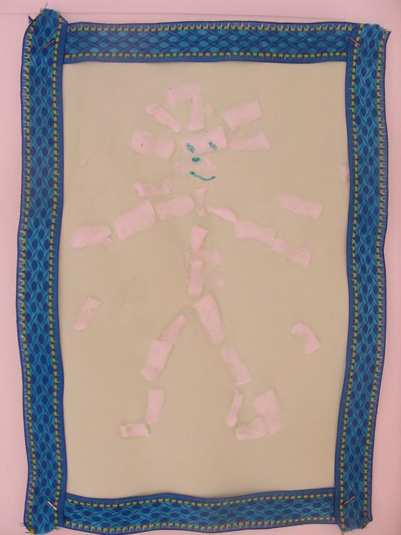 Pour la Fête des Pères : cadre ruban sur carton représentant papa en Playmaïs