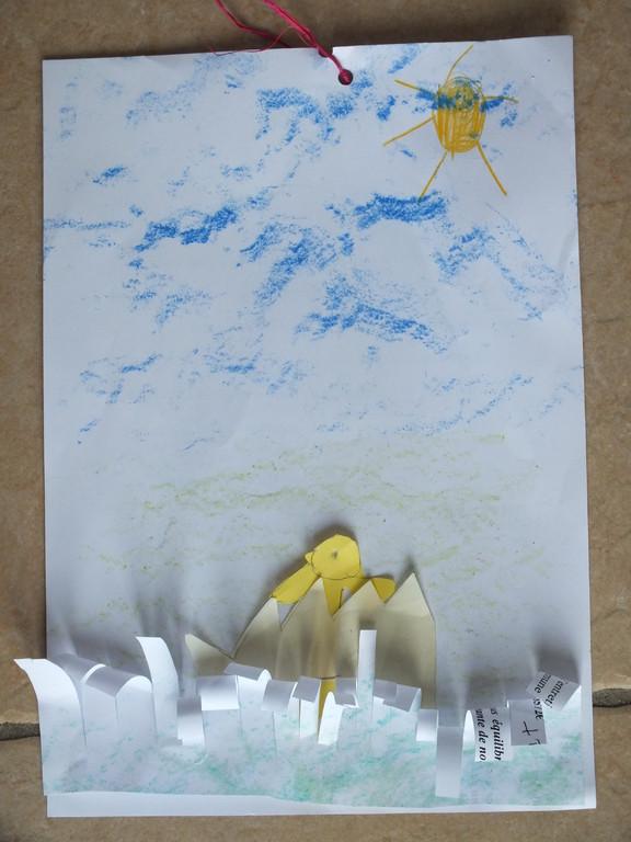 dessin de Pâques avec collage
