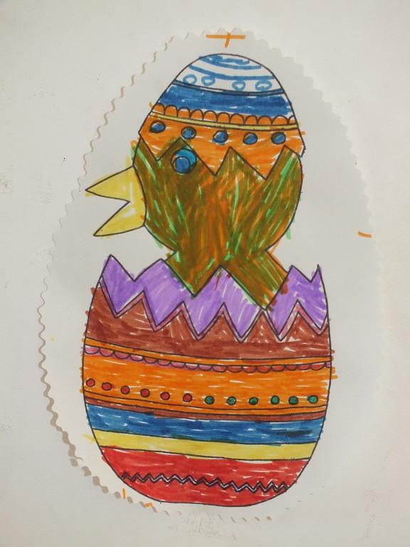 coloriage oeuf de Pâques