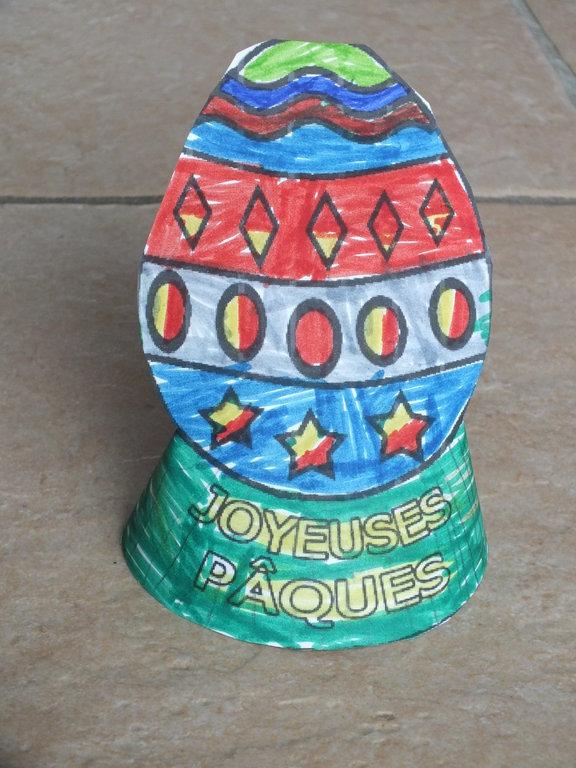 Oeuf de Pâques en cone