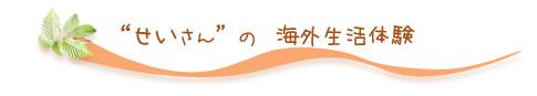 """""""せいさん""""の海外生活体験"""