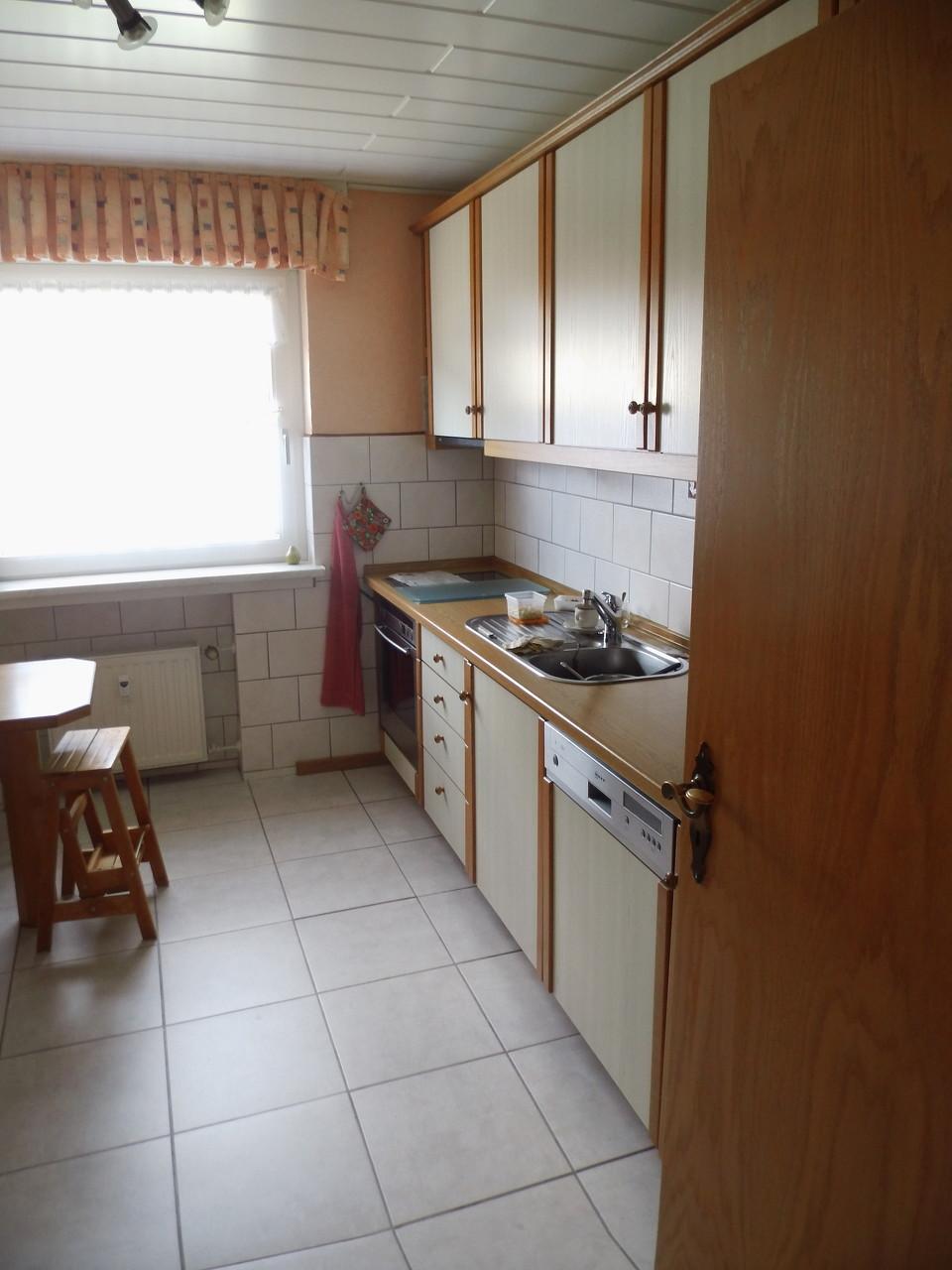 schöne kleine Küche in der Eigentumswohnung