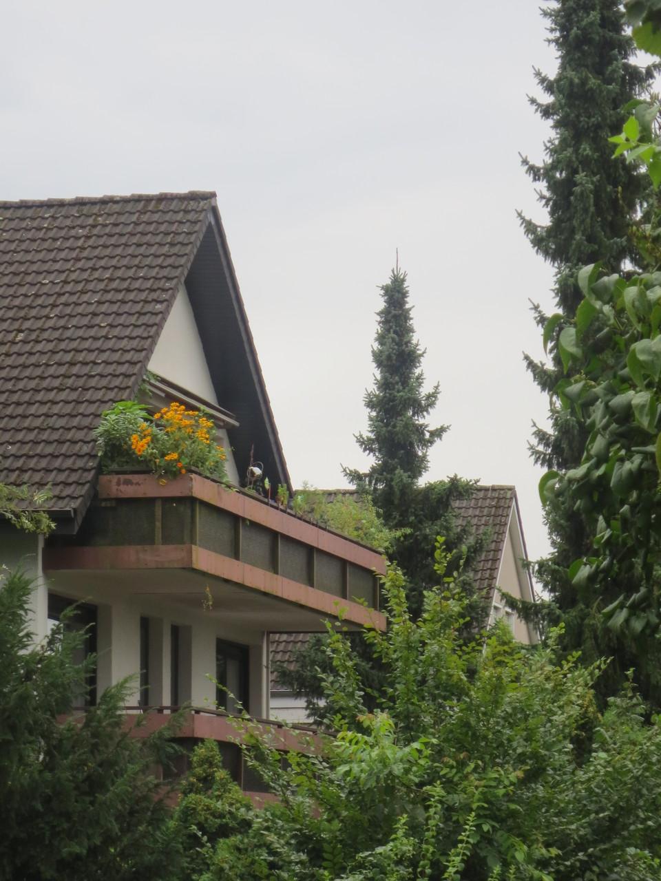Außensicht des Balkons der Eigentumswohnung