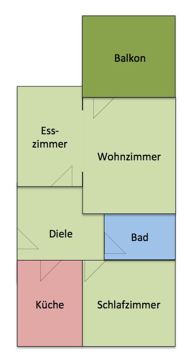Grundriss der verkauften Wohnung in Hövelhof