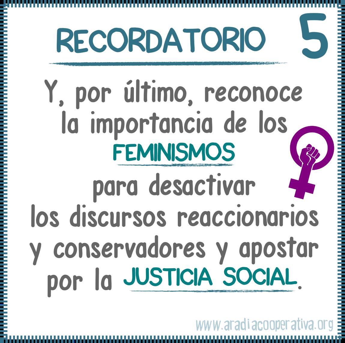 5. Recordatorio