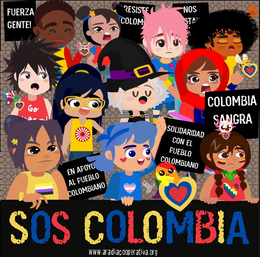 El akelarre se manifiesta en solidaridad a Colombia