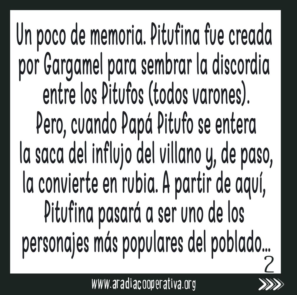 el personaje de Pitufina