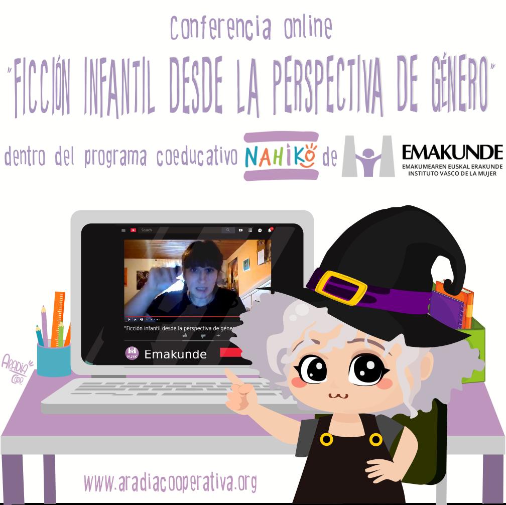 """Charla en Nahiko!: """"Ficción infantil desde la perspectiva de género"""""""